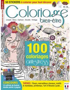 Coloriage bien-être 16 - Thèmes : fleurs, merveilleux chevaux, motifs et mandalas, printemps...