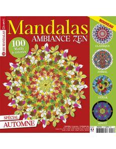 Mandalas Zen 3 - 100 motifs à colorier spécial Automne