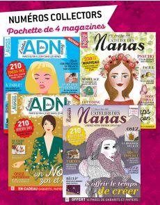 Collection 2018 complète - L'ATELIER des NANAS : 4 numéros collectors