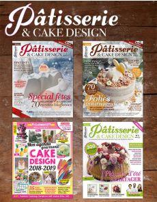 Spécial PÂTISSERIES CRÉATIVES - Collection de 4 magazines