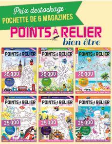 Collection 2018 complète - POINTS À RELIER Bien-être 6 magazines