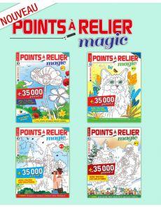 Collection 2019 complète - POINTS À RELIER MAGIC - l'intégrale des 4 magazines