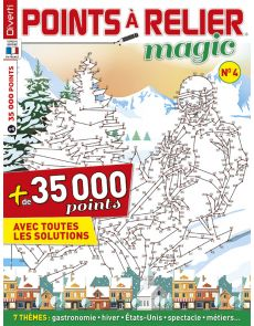 Points à Relier Magic 4 - Thèmes : Gastronomie, hiver, Etats-Unis, Spectacle, Métiers, ...