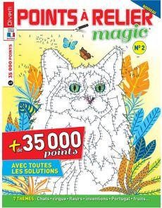 Points à relier Magic 2 - Thèmes chats, cirque, fleurs, inventions, ...