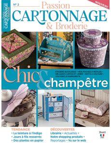 Passion Cartonnage et Broderie 2 - Chic et champêtre
