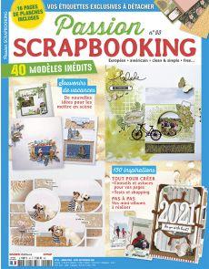 Passion Scrapbooking 93 - 40 modèles inédits - Scrap européen, américain, clean & simple, free