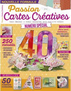 Passion Cartes Creatives n°40 - Numéro spécial anniversaire + vos planches d'étiquettes