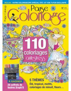 Pause Coloriage 11 - Thèmes : été, tropical, fleurs, motifs, coloriages de minuit…