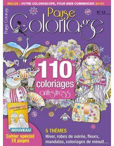 Pause Coloriage 13 - Thèmes : hiver, robes de soirée, fleurs, mandalas…