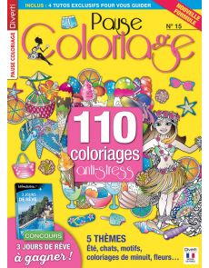 Pause Coloriage 15 - Thèmes : été, chats, motifs, fleurs...