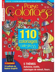 110 coloriages anti-stress - Pause Coloriage 16