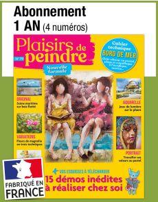 L'abonnement aux 4 prochains numéros du magazine PLAISIRS DE PEINDRE