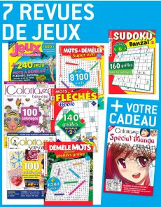 7 revues de JEUX + EN CADEAU 1 supplément spécial MANGA