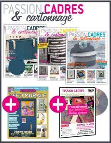 Cadres et Cartonnage - Collection de 4 magazines + 1 DVD spécial encadrement EN CADEAU