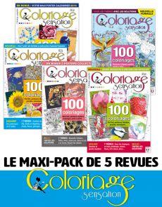 Le PACK COLORIAGES - 5 revues