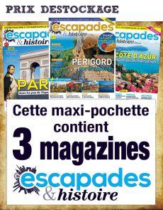 ESCAPADE ET HISTOIRE - Collection de 3 magazines