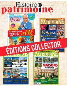 DÉCOUVERTE PATRIMOINE - Collection de 4 magazines