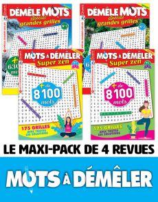 Pochette de 4 revues de MOTS à DÉMÊLER