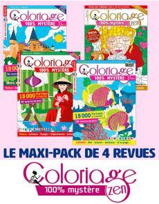 Collection complète 2020 COLORIAGE MYSTÈRE - 4 revues
