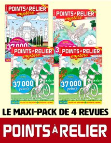 Le PACK POINTS À RELIER grand format 2020 - 4 revues