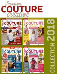 Collection 2018 complète - Passion COUTURE CRÉATIVE : 4 numéros collectors