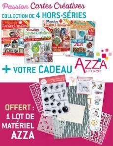 CARTES DE VOEUX collection de 4 hors-séries + EN CADEAU 1 lot de matériel AZZA