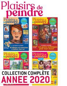Collection 2020 complète - Plaisirs de Peindre : 4 numéros collectors
