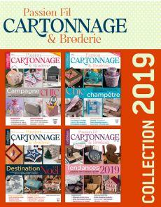Collection 2019 complète - Passion CARTONNAGE & BRODERIE : 4 numéros collectors