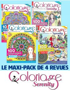 Collection complète 2020 COLORIAGE SERENITY - 4 revues