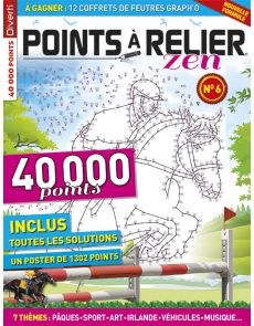 Points à Relier Zen 6 - Thèmes sport, Pâques, Irlande, art, véhicules, musique...