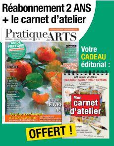 Réabonnement 2 ANS Pratique des Arts + 1 carnet d'atelier OFFERT