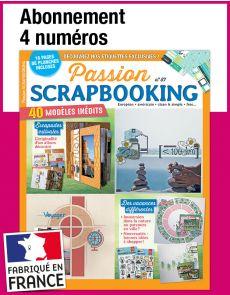 L'abonnement aux 4 prochains numéros du magazine Passion SCRAPBOOKING