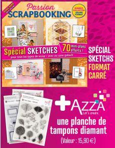 Scrapbooking spécial SKETCHES + 1 planche de tampons Diamant AZZA
