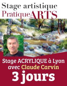 Réservation des 3 jours de Stage ACRYLIQUE avec Claude Carvin