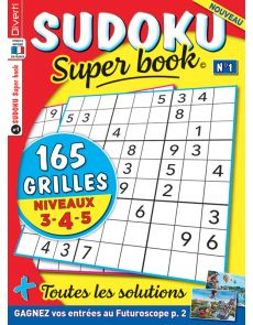 SUDOKU Super book 1 - Niveaux 3-4-5