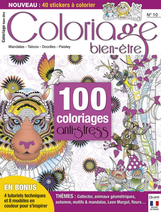 Coloriage Anti Stress Magazine.100 Coloriages Anti Stress Coloriage Bien Etre N 10