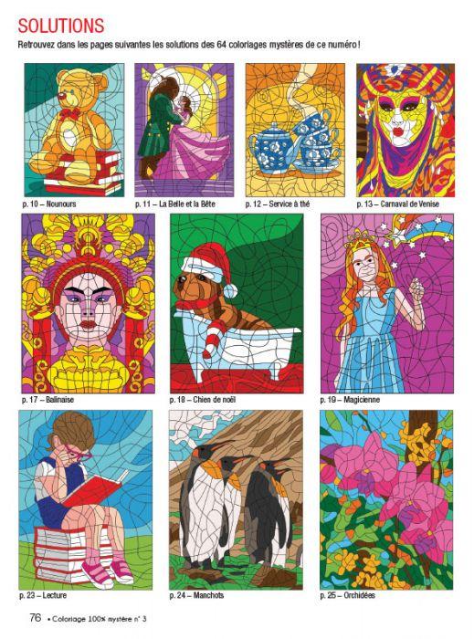 Coloriage Carnaval Cm.Coloriage 100 Mystere 3 Themes Hiver Fetes Animaux Carnaval Saint Valentin