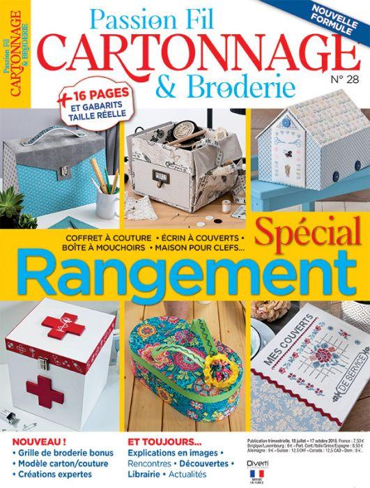 Passion Fil Cartonnage Et Broderie 28 Special Rangement